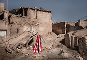 Old Kashgar city, Xinjiang - China. The traditional mud houses of Uighurs are gradually being destroyed by the state because they do not comply with the  new Chinese housing standards. <br /> - NATACHA DE MAHIEU