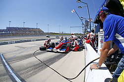 July 8, 2018 - Newton, Iowa, United States of America - TONY KANAAN (14) of Brazil comes down pit road for service during the Iowa Corn 300 at Iowa Speedway in Newton, Iowa. (Credit Image: © Justin R. Noe Asp Inc/ASP via ZUMA Wire)