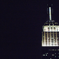 The Empire State Building is a 102-story landmark Art Deco skyscraper in New York City at the intersection of Fifth Avenue and West 34th Street. Its name is derived from the nickname for the state of New York. It stood as the world's tallest building for more than forty years, from its completion in 1931 until construction of the World Trade Center's North Tower was completed in 1972. Following the destruction of the World Trade Center in 2001, the Empire State Building once again became the tallest building in New York City and New York State.