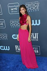 Zendaya at the 25th Annual Critics' Choice Awards held at the Barker Hangar in Santa Monica, USA on January 12, 2020.