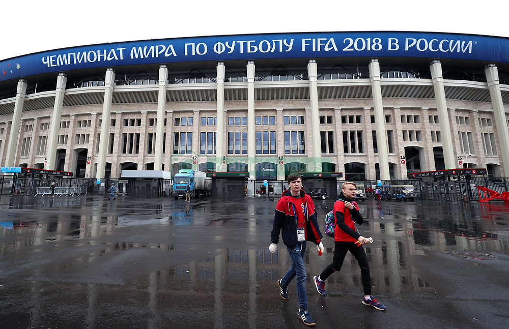 General view outside the Luzhniki Stadium prior to the FIFA World Cup 2018 opening in Moscow, Russia