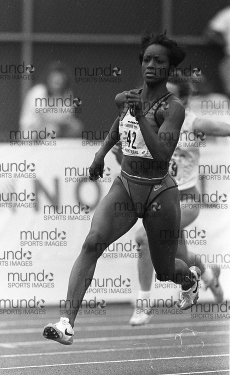 ******This is an unprocessed scan from the negative. You can buy it as is and clean it up yourself, or contact us for rates on providing the service for you. *******<br /> <br /> (Montreal, Canada --- 25 July 1995)  at the 1995 Canadian National Track and Field Championships held at the Complexe sportif Claude-Robillard in Montreal. Photo 1995 Copyright Sean Burges / Mundo Sport Images.<br /> <br /> ******This is an unprocessed scan from the negative. You can buy it as is and clean it up yourself, or contact us for rates on providing the service for you. *******