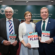 31.05.2018.          <br /> Limerick and Clare Education Training Board launch Youth Work Plan 2018-2021 at Thomond Park Limerick with Pat Breen TD, Minister of State with special responsibility for Trade, Employment, Business, EU Digital Single Market and Data Protection, Clare. <br /> <br /> Pictured at the event were, George O'Callaghan, LCETB, Bernadette Cullen, LCETB and Pat Breen TD, Minister of State with special responsibility for Trade, Employment, Business, EU Digital Single Market and Data Protection, Clare. Picture: Alan Place
