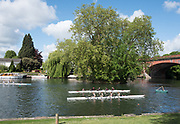 Maidenhead. Berkshire. United Kingdom. General view Competitors, after their race,  Maidenhead RC Boathouse. 2017 Maidenhead Junior Regatta  River Thames. <br /> <br /> [©Peter SPURRIER/Intersport Images] Sunday. 14.05.2017