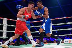17-11-2019 NED: World Port Boxing Netherlands - Kazakhstan, Rotterdam<br /> 3rd World Port Boxing in Excelsior Stadion Rotterdam / Delano James (NED) against Ablaikhan Zhussupov (KAZ), 69 kg class