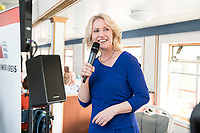 04 JUN 2019, BERLIN/GERMANY:<br /> Manuela Schwesig, SPD, Ministerpraesidentin Mecklenburg-Vorpommern, Spargelfahrt des Seeheimer Kreises der SPD, Anleger Wannsee<br /> IMAGE: 20190604-01-155