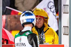 30.12.2017, Schattenbergschanze, Oberstdorf, GER, FIS Weltcup Ski Sprung, Vierschanzentournee, Garmisch Partenkirchen, Wertungsdurchgang, im Bild Gregor Schlierenzauer (AUT), FIS Material Kontrolleur Sepp Gratzer // Gregor Schlierenzauer of Austria FIS Coordinator Equipment Control Sepp Gratzer during his Competition Jump for the Four Hills Tournament of FIS Ski Jumping World Cup at the Schattenbergschanze in Oberstdorf, Germany on 2017/12/30. EXPA Pictures © 2017, PhotoCredit: EXPA/ JFK