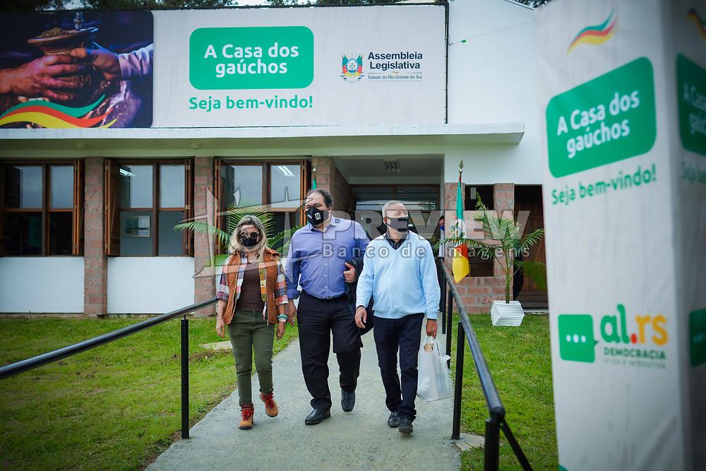 Deputado Estadual Dr. Thiago Duarte durante abertura da Expointer 2021. FOTO: Jefferson Bernardes/ Agência Preview