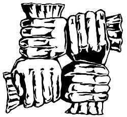 Mutual Assurance Company Fire Mark four hands grabbing wrists