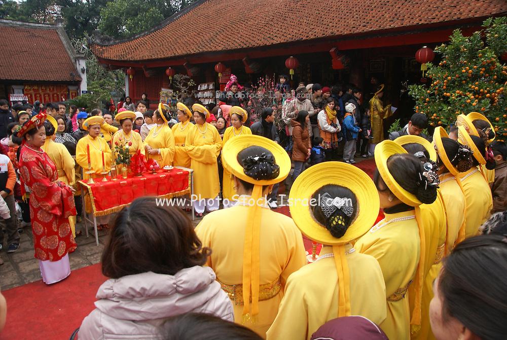 Temple of Litrature, Hanoi, Vietnam, Traditional dancers