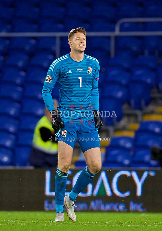CARDIFF, WALES - Thursday, September 6, 2018: Wales' goalkeeper Wayne Hennessey looks dejected as Republic of Ireland score a consolation goal during the UEFA Nations League Group Stage League B Group 4 match between Wales and Republic of Ireland at the Cardiff City Stadium. Wales won 4-1. (Pic by David Rawcliffe/Propaganda)