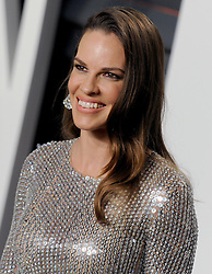 Hilary Swank arrives at the 2016 Vanity Fair Oscar Party Hosted By Graydon Carter at Wallis Annenberg Center for the Performing Arts on February 28, 2016 in Beverly Hills, California. EXPA Pictures © 2016, PhotoCredit: EXPA/ Photoshot/ Dennis Van Tine<br /><br />*****ATTENTION - for AUT, SLO, CRO, SRB, BIH, MAZ only*****