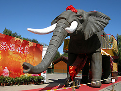 September 11, 2017 - Beijing, Beijing, China - Beijing, CHINA-11th September 2017: (EDITORIAL USE ONLY. CHINA OUT)..The statue exhibition is held at Yuyuantan Park in Beijing, September 11th, 2017, featuring statues of giant elephant and transformers. (Credit Image: © SIPA Asia via ZUMA Wire)
