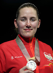 England's Paige Murney celebrates bronze in the Women's Lightweight final at Oxenford Studios during day ten of the 2018 Commonwealth Games in the Gold Coast, Australia.