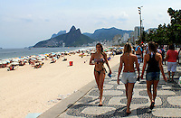 Football Fifa World Cup Brazil 2014 / <br /> Ipanema Beach - Rio de Janeiro - Brazil -<br /> Panoramic View of Ipanema Beach and Hill of Brothers ( Avenue Viera Souto ) ,<br /> The Dutch National Football Team, is will host Cesar Park Hotel , during the next Fifa World Cup Brazil 2014