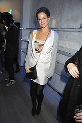 KATE SUMNER at a party she hosted at Zadig & Voltaire to celebrate the brand's arrival in London at 182 Westbourne Grove, London W11 on 14th October 2008.