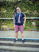 Life long DHFC fan, Shaun, ahead of the Dulwich Hamlet FC vs Hendon at Champion Hill on 12th September 2017 in South London in the United Kingdom. Dulwich Hamlet was founded in 1893 and both teams play in the Isthmian League Premier Division, a regional mens football league covering London, East and South East England.