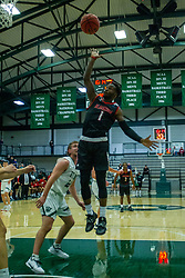 BLOOMINGTON, IL - November 12: Javon Stovall during a college basketball game between the IWU Titans  and the Blackburn Beavers on November 12 2019 at Shirk Center in Bloomington, IL. (Photo by Alan Look)