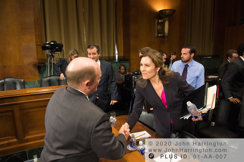 """Ms. Dawn Grove, Corporate Counsel<br /> Karsten Manufacturing greets Sen. Koons Wednesday September 14, 2016, before the Subcommittee on Oversight, Agency Action, Federal Rights and Federal Courts, testimony was also heard from The Honorable Lawrence E. Strickling, Assistant Secretary for Communications and Information and Administrator<br /> National Telecommunications and Information Administration (NTIA), United States Department of Commerce;  Mr. Göran Marby, CEO and President, Internet Corporation for Assigned Names and Numbers (ICANN); Mr. Berin Szoka, President, TechFreedom; Mr. Jonathan Zuck, President, ACT The App Association;  Ms. Dawn Grove, Corporate Counsel<br /> Karsten Manufacturing; Ms. J. Beckwith (""""Becky"""") Burr, Deputy General Counsel and Chief Privacy Officer, Neustar;  Mr. John Horton, President and CEO, LegitScript;  Mr. Steve DelBianco, Executive Director, NetChoice; Mr. Paul Rosenzweig, Former Deputy Assistant Secretary for Policy, U.S. Department of Homeland Security."""