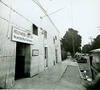 1943 Volunteer entrance at the rear of the Hollywood Canteen