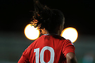Bethan Lloyd of Wales looks on.  Friendly International Womens football, Wales Women v Republic of Ireland Women at Rodney Parade in Newport, South Wales on Friday 19th August 2016.<br /> pic by Andrew Orchard, Andrew Orchard sports photography.