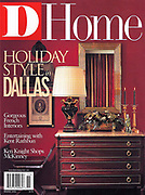 This is a cover I shot for D Home, it contains antique console, lamp, mirror, and bench.<br /> Holiday edition