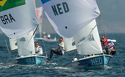 10.08.2012, Bucht von Weymouth, GBR, Olympia 2012, Segeln, im Bild BRONZE:.Westerhof Lisa, (NED, 470 Women) // during Sailing, at the 2012 Summer Olympics at Bay of Weymouth, United Kingdom on 2012/08/10. EXPA Pictures © 2012, PhotoCredit: EXPA/ Daniel Forster ***** ATTENTION for AUT, CRO, GER, FIN, NOR, NED, .POL, SLO and SWE ONLY!
