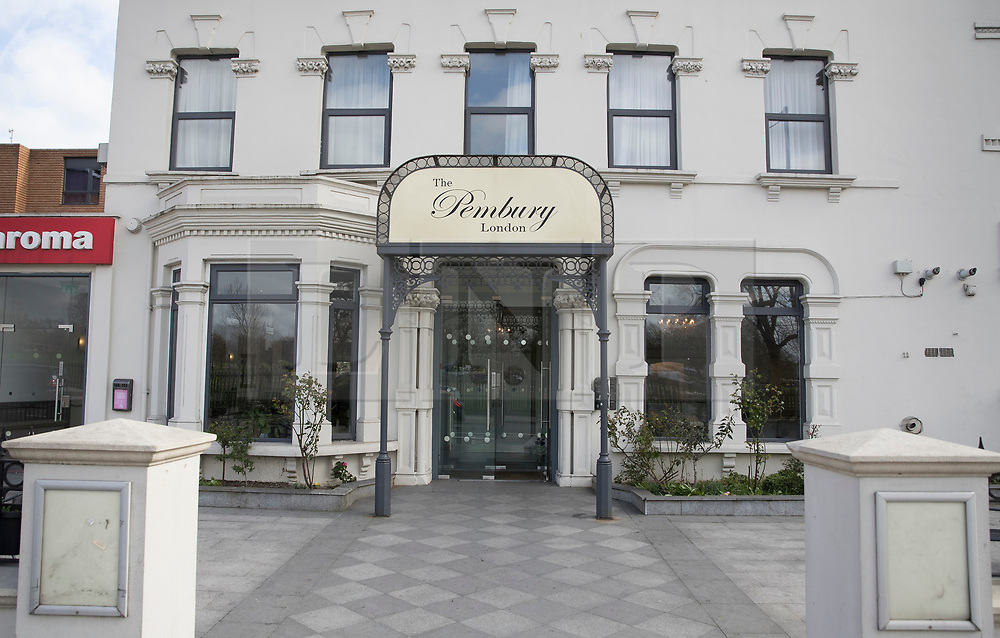 © Licensed to London News Pictures.19/03/2017.London, UK. The Pembury Hotel where it is believed Mr Bidhya Sagar Das works. Police say he is wanted in connection with an incident at a property on Wilberforce Road where one baby has been found dead and another seriously injured in Finsbury Park. Photo credit: Peter Macdiarmid/LNP