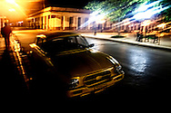Night street in Ciego de Avila, Cuba.