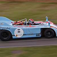 Porsche 908/3, driver: Emanuele Pirro at the Goodwood FOS on 28 June 2015