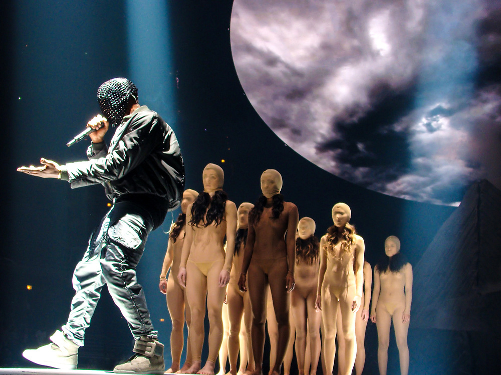 Kanye West brings his Yeezus Tour to the United Center in Chicago on December 17, 2013.