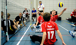 08-01-2011 VOLLEYBAL: ED ROOSEN ZITVOLLEYBALTOERNOOI 2011: LEERSUM<br /> Voller volleyball club organizes for the ninth consecutive time the Ed Roosen sitting volleyball tournament / Volleer 1 vs. Leverkusen Germany 2<br /> ©2011-WWW.FOTOHOOGENDOORN.NL