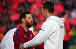 May 6, 2018 - Barcelona, Spain - Cristiano Ronaldo and Leo Messi during the match between FC Barcelona and Real Madrid CF, played at the Camp Nou Stadium on 06th May 2018 in Barcelona, Spain.  Photo: Joan Valls/Urbanandsport /NurPhoto. (Credit Image: © Joan Valls/NurPhoto via ZUMA Press)