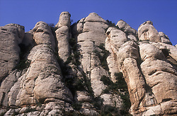 Oddlyshaped mountains at Montserrat; Catalunya,
