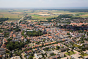 Nederland, Noord-Holland, Texel, 14-07-2008; Den Burg, hoofdplaats van Texel, belangrijkste dorp van het eiland, administratief centrum;  . .luchtfoto (toeslag); aerial photo (additional fee required); .foto Siebe Swart / photo Siebe Swart