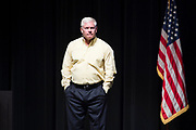 Rep. Pete Sessions speaks during a town hall event at Richardson High School in Richardson, Texas on March 18, 2017. (Cooper Neill for The Texas Tribune)