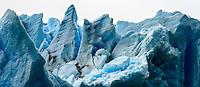 The crumbling edge of Glacier Grey in Torres del Paine National Park, Chile.