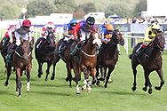 KINGS LYNN (15) ridden by Oisin Murphy, trained by Andrew Balding and Owned and bred by HM The Queen winning The Weatherbys Racing Bank £300,000 2yo Stakes over 6f (£300,000)   during the second day of the St Leger Festival at Doncaster Racecourse, Doncaster, United Kingdom on 12 September 2019.