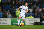 Tomas Kalas of Fulham © in action . EFL Skybet championship match, Cardiff city v Fulham at the Cardiff city stadium in Cardiff, South Wales on Boxing Day, Tuesday 26th December 2017.<br /> pic by Andrew Orchard, Andrew Orchard sports photography.
