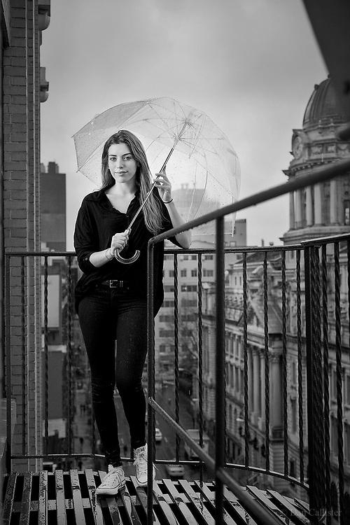 Model Clara McGregor in New York City by photographer Dan Callister