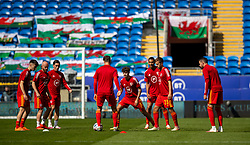 CARDIFF, WALES - Sunday, September 6, 2020: Wales' Neco Williams during the pre-match warm-up before the UEFA Nations League Group Stage League B Group 4 match between Wales and Bulgaria at the Cardiff City Stadium. (Pic by David Rawcliffe/Propaganda)