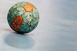 Ball during handball match between National teams of Slovenia and Hungary in play off of 2015 Men's World Championship Qualifications on June 15, 2014 in Rdeca dvorana, Velenje, Slovenia. Photo by Urban Urbanc / Sportida