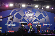 General stage view during the Grand Slam of Darts, at Aldersley Leisure Village, Wolverhampton, United Kingdom on 17 November 2019.