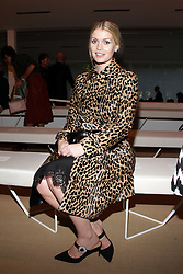 Kitty Spencer on the front row of the TOD catwalk show during Milan Fashion Week 2019 in Italy.
