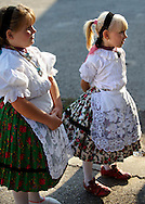 Young Svab children in traditional dress, Hajos (Hajós) Hungary .<br /> <br /> Visit our HUNGARY HISTORIC PLACES PHOTO COLLECTIONS for more photos to download or buy as wall art prints https://funkystock.photoshelter.com/gallery-collection/Pictures-Images-of-Hungary-Photos-of-Hungarian-Historic-Landmark-Sites/C0000Te8AnPgxjRg