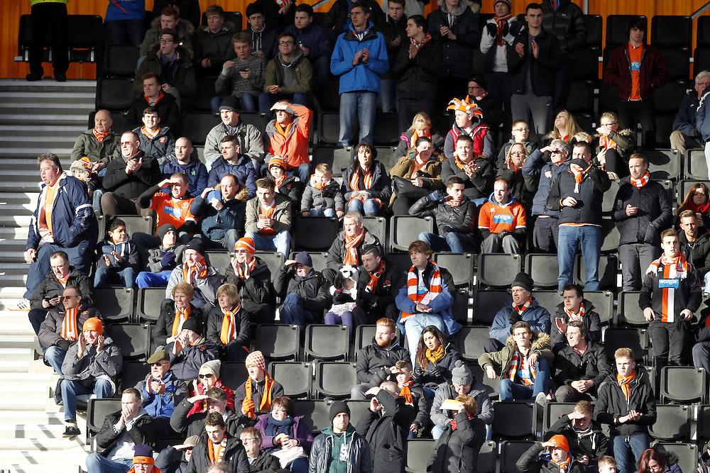 Blackpool Football CLub's Fans<br /> <br /> Photographer Mick Walker/CameraSport<br /> <br /> Football - The Football League Sky Bet Championship - Wolverhampton Wanderers v Blackpool - Saturday 17th January 2015 - Molineux - Wolverhampton<br /> <br /> © CameraSport - 43 Linden Ave. Countesthorpe. Leicester. England. LE8 5PG - Tel: +44 (0) 116 277 4147 - admin@camerasport.com - www.camerasport.com