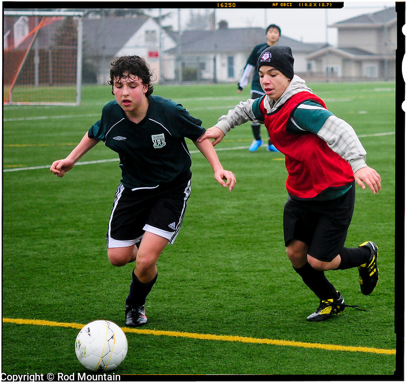 Action from an ametuer soccer game.