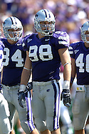 Defensive end Ian Campbell #98 of the Kansas State Wildcats at Bill Snyder Family Stadium in Manhattan, Kansas, September 16, 2006.  The Wildcats beat the Thundering Herd 23-7.