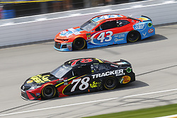 August 12, 2018 - Brooklyn, Michigan, United States of America - Martin Truex, Jr (78) and Darrell Wallace, Jr (43) battle for position during the Consumers Energy 400 at Michigan International Speedway in Brooklyn, Michigan. (Credit Image: © Chris Owens Asp Inc/ASP via ZUMA Wire)