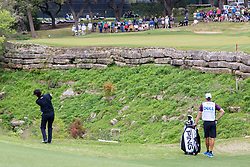 March 23, 2018 - Austin, TX, U.S. - AUSTIN, TX - MARCH 23:  Bubba Watson narrowly avoided the hazard on the ninth hole during the WGC-Dell Technologies Match Play Tournament on March 22, 2018, at the Austin Country Club in Austin, TX.  (Photo by David Buono/Icon Sportswire) (Credit Image: © David Buono/Icon SMI via ZUMA Press)
